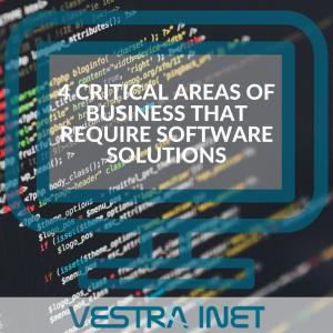 4 Critical Areas of Business that Require Software Solutions